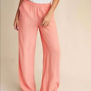 New express pink mid rise wide leg pants pleated